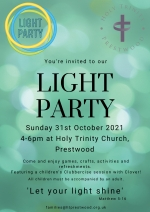 Light Party: Sunday October 31st 4pm-6pm